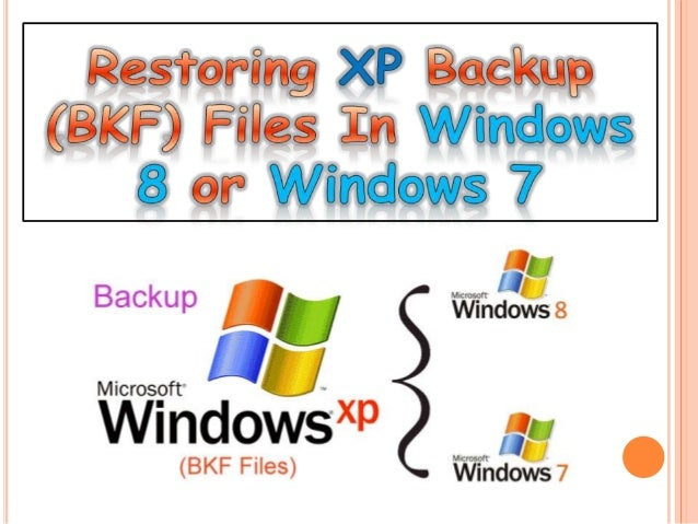 Now the problem experienced, is the unavailability of NTBackup utility in Windows 7 & 8 as Microsoft has changed its metho...