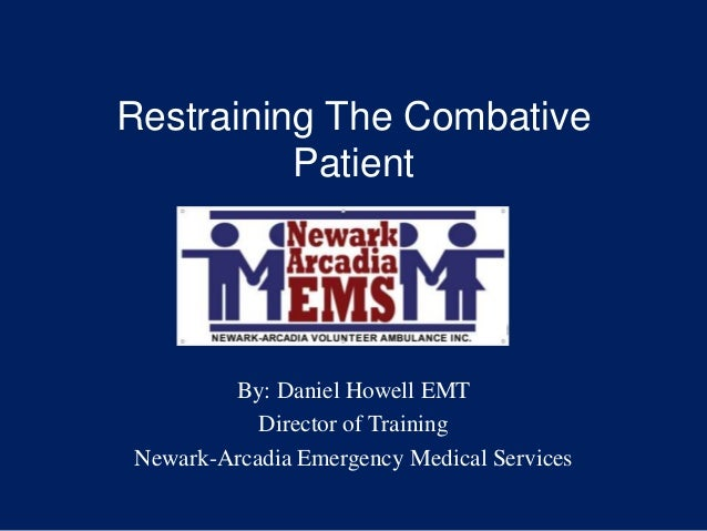 Sedating a combative patient training