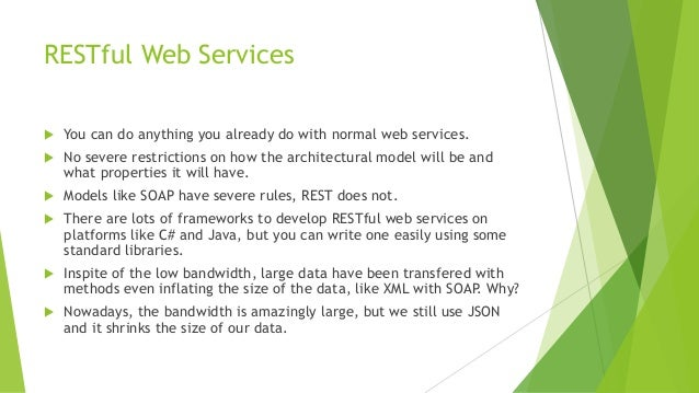 Writing restful web services