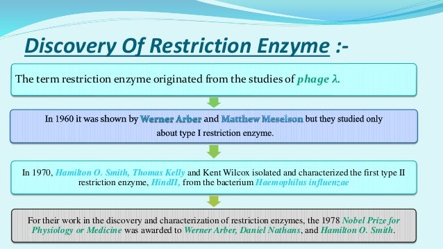4 Discovery Of Restriction Enzyme