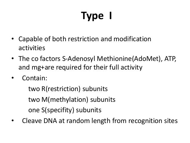 Recognition Sites 18 Type II