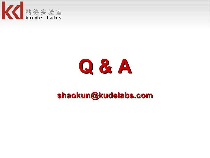 Q & A [email_address]