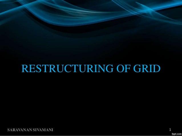 RESTRUCTURING OF GRID SARAVANAN SIVAMANI 1