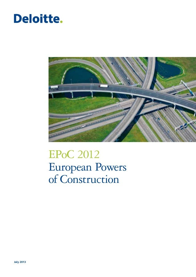 EPoC 2012 European Powers of Construction July 2013