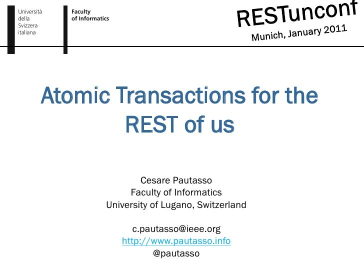 Atomic Transactions for the REST of us