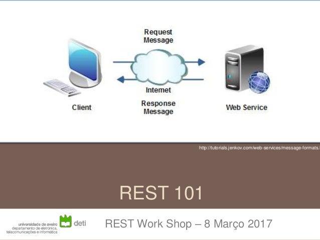 REST 101 REST Work Shop – 8 Março 2017 http://tutorials.jenkov.com/web-services/message-formats.h