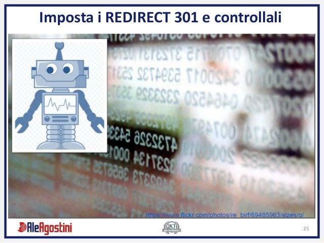 25 Imposta i REDIRECT 301 e controllali