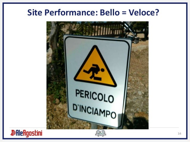 34 Site Performance: Bello = Veloce?