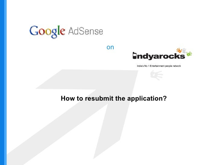 on How to resubmit the application?