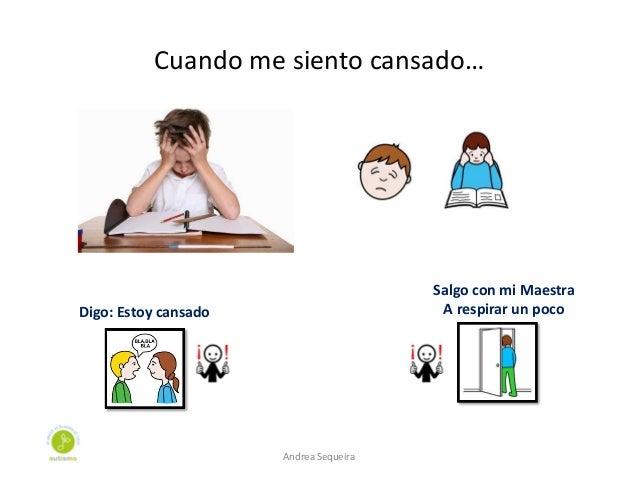 Cuando me siento cansado… Digo: Estoy cansado Salgo con mi Maestra A respirar un poco Andrea Sequeira