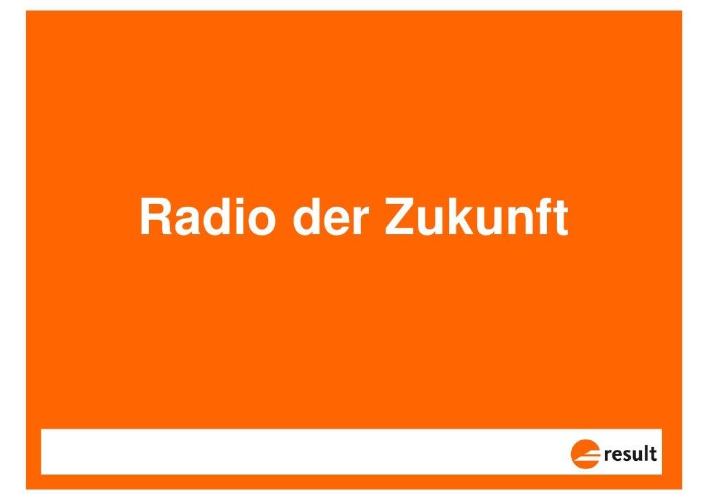 Radio der Zukunft