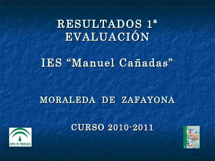 Resultados 1º evaluación