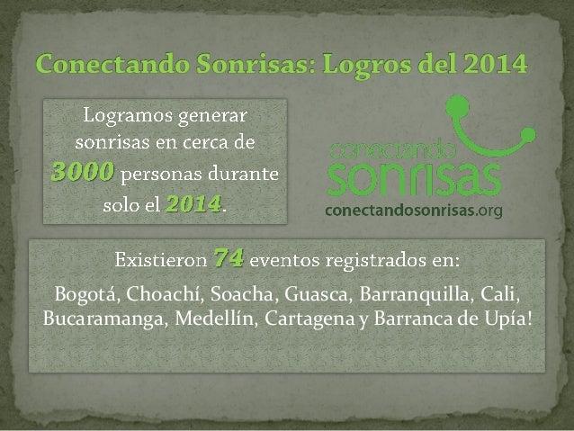 Bogotá, Choachí, Soacha, Guasca, Barranquilla, Cali, Bucaramanga, Medellín, Cartagena y Barranca de Upía!