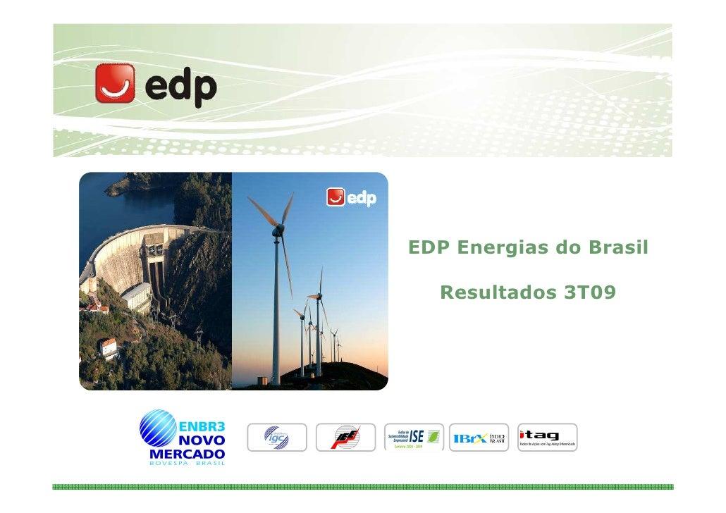 EDP Energias do Brasil    Resultados 3T09                              1