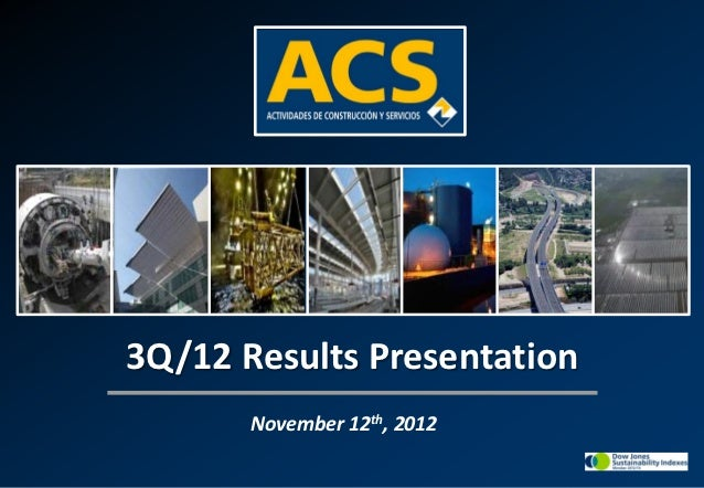 3Q/12 Results Presentation       November 12th, 2012