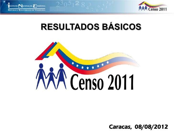 RESULTADOS BÁSICOS            Caracas, 08/08/2012