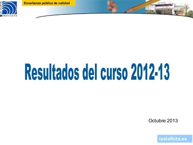 ieslaflota.es Enseñanza pública de calidad Octubre 2013