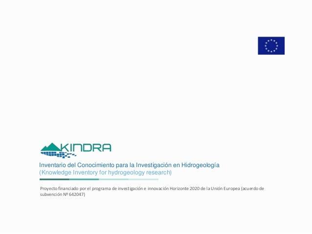 Inventario del Conocimiento para la Investigación en Hidrogeología (Knowledge Inventory for hydrogeology research) Proyect...