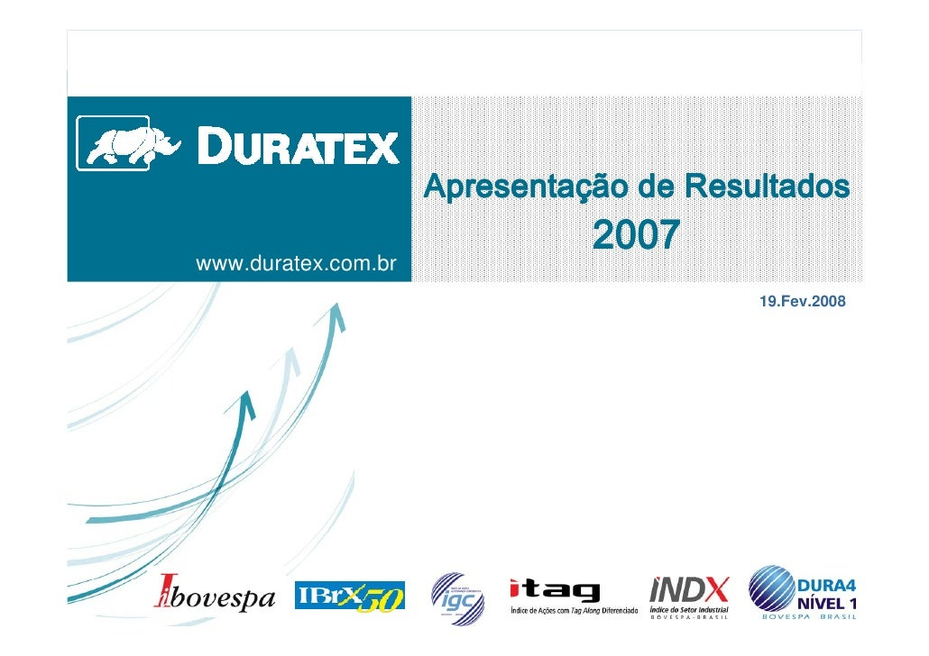$SUHVHQWDØÔR GH 5HVXOWDGRV                                 www.duratex.com.br                                          19....