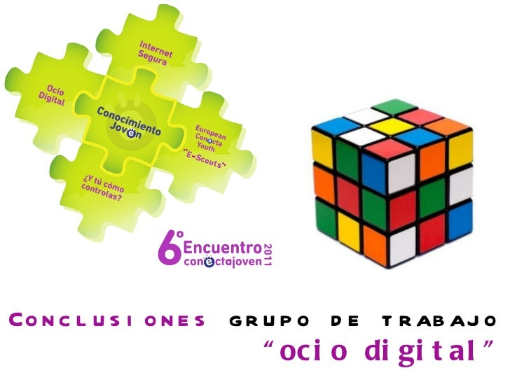 """Conclusiones  grupo de trabajo """" ocio digital"""""""