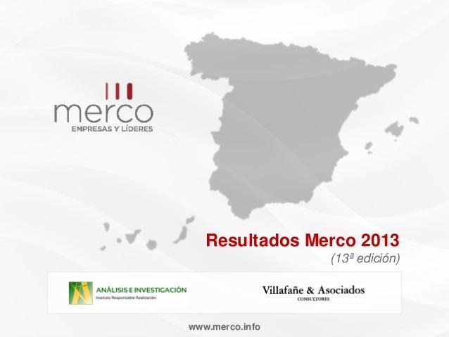 www.merco.infoResultados Merco 2013(13ª edición)