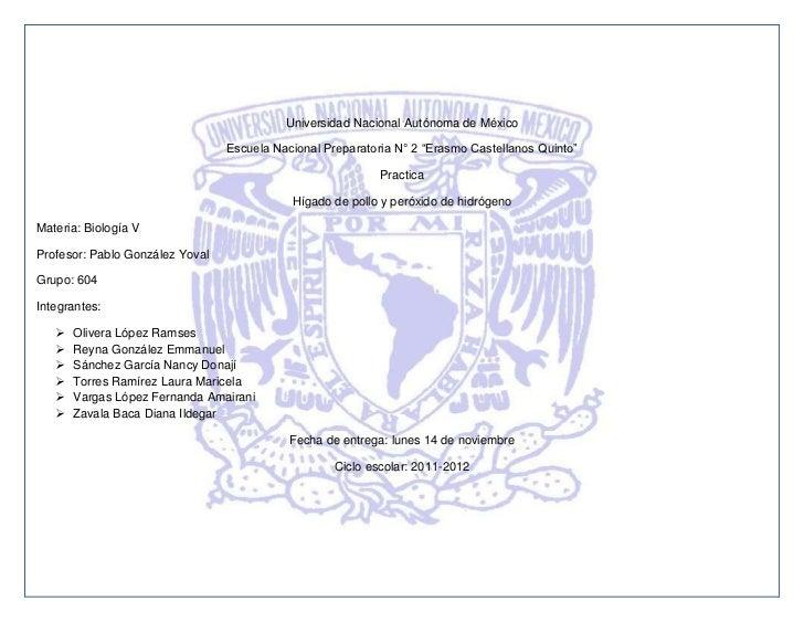"Universidad Nacional Autónoma de México                                 Escuela Nacional Preparatoria N° 2 ""Erasmo Castell..."
