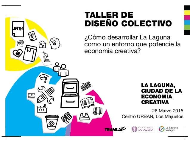 TALLER DE DISEÑO COLECTIVO 26 Marzo 2015  Centro URBAN, Los Majuelos LA LAGUNA, CIUDAD DE LA ECONOMÍA CREATIVA ¿Cómo desar...