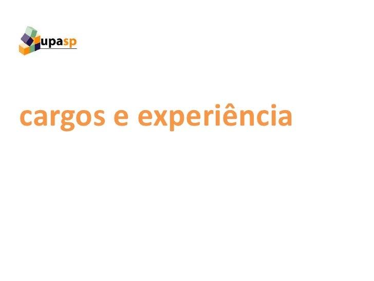 cargos e experiência