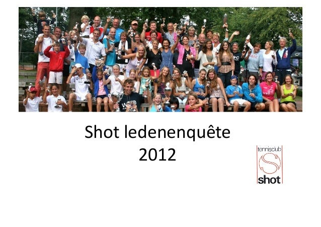 Shot ledenenquête            2012