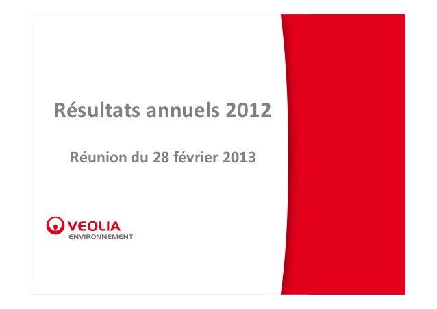 Résultatsannuels2012 Réuniondu28février2013