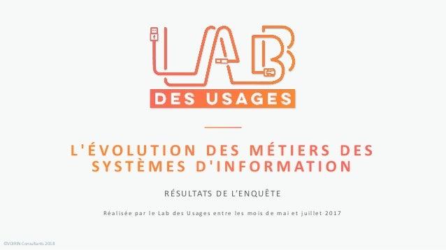 ©VOIRIN Consultants 2018 Réalisée par le Lab des Usages entre les mois de mai et juillet 2017 RÉSULTATS DE L'ENQUÊTE