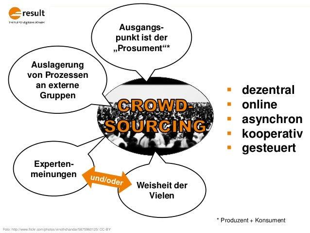 Auslagerung von Prozessen an externe Gruppen Weisheit der Vielen Experten- meinungen  dezentral  online  asynchron  ko...
