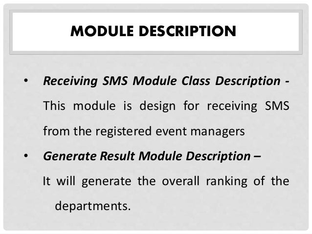 Sms thesis