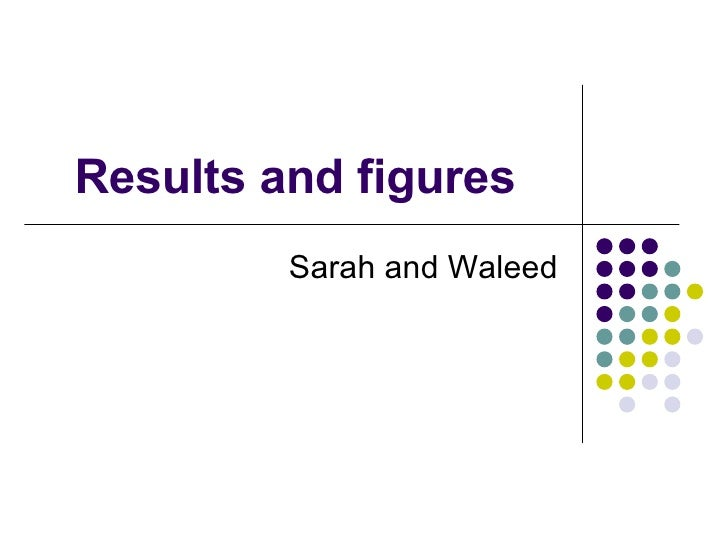Results and figures Sarah and Waleed
