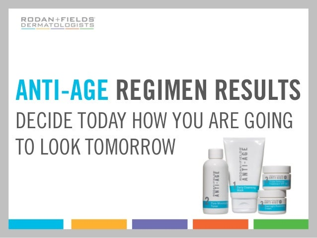 ANTI-AGE REGIMEN RESULTSDECIDE TODAY HOW YOU ARE GOINGTO LOOK TOMORROW