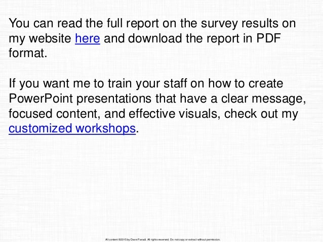 results of the 2015 annoying powerpoint survey