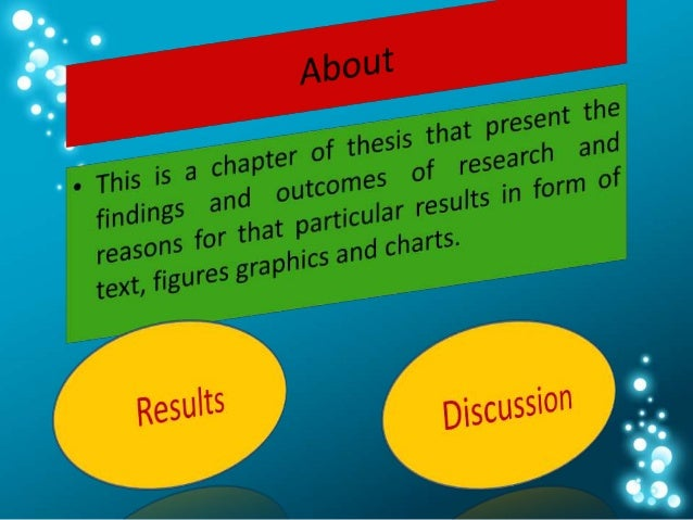 presenting tables in a dissertation