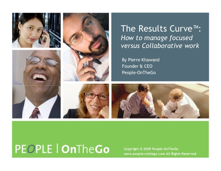 The Results Curve™: How to manage focused versus Collaborative work By Pierre Khawand Founder & CEO People-OnTheGo     Cop...