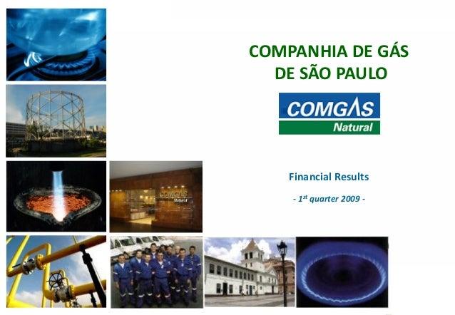 111COMPANHIA DE GÁSDE SÃO PAULOFinancial Results- 1st quarter 2009 -