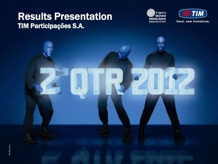 Results PresentationTIM Participações S.A.