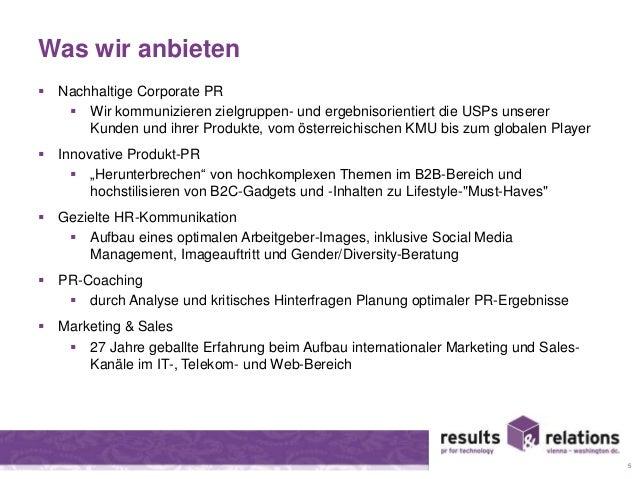 Was wir anbieten   Nachhaltige Corporate PR   Wir kommunizieren zielgruppen- und ergebnisorientiert die USPs unserer  Ku...