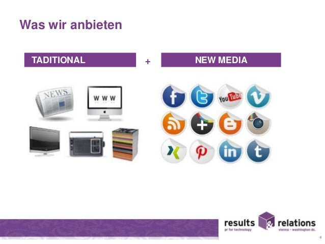 Was wir anbieten  6  TADITIONAL + NEW MEDIA