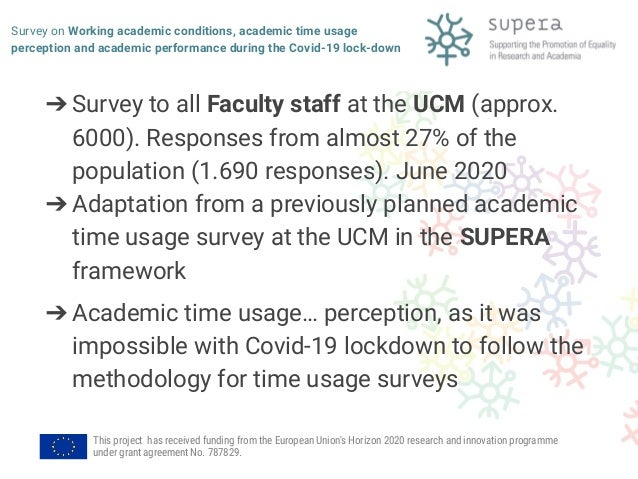 Survey on Working academic conditions, academic time usage perception and academic performance during the Covid-19 lockdown Slide 2