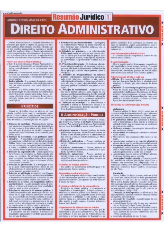 www. bafisa. com. br     nrmmio lílillo tvrioraauve rua: :  Direito Administrativo é o conjunto harmônico de princípios qu...