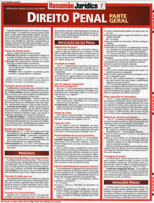Resumão Jurídico Direito Penal - Parte Geral