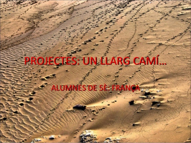 PROJECTES: UN LLARG CAMÍ… ALUMNES DE 5È: FRANÇA