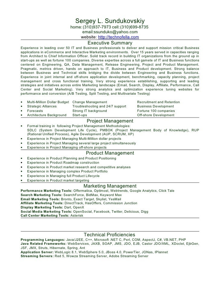 Resume. Sergey L. Sundukovskiy ...  Sample Java Resume