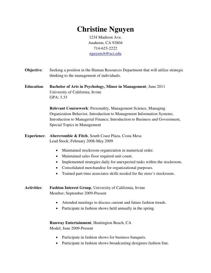 Resume. Christine Nguyen ...  Hair Stylist Resume Objective