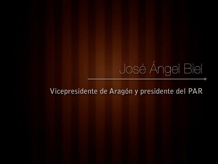 José Ángel Biel Vicepresidente de Aragón y presidente del PAR