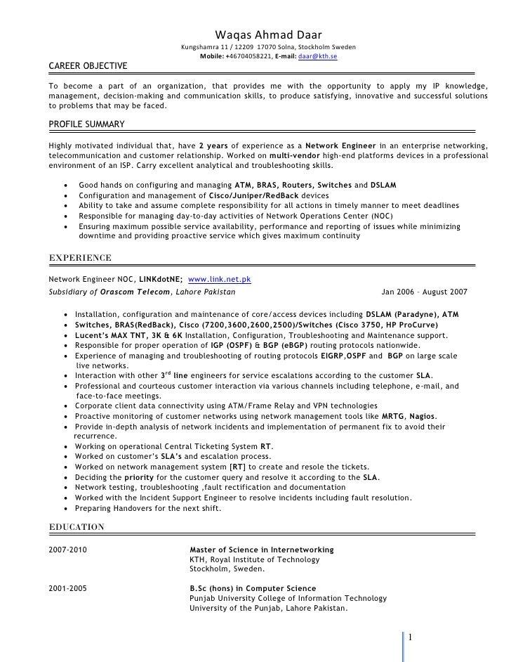 resume waqas ahmad daar kungshamra 11 12209 ccna resume